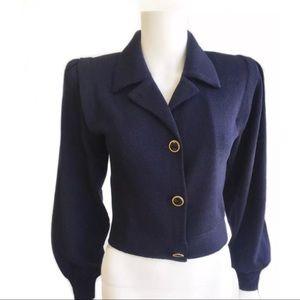 Vintage St. John Santana Knit Crop Blazer Size 4